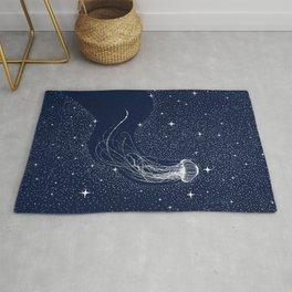 starry jellyfish Rug