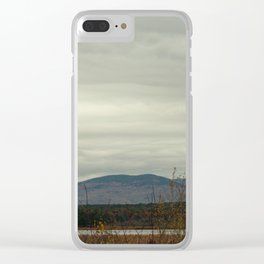 Late Fall Mountain Clear iPhone Case