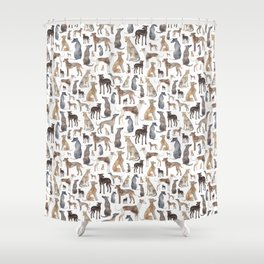 Greyhounds and Whippets Shower Curtain