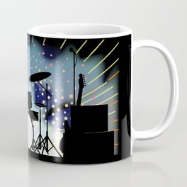 Bright Rock Band Stage Coffee Mug