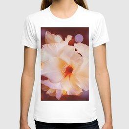 Sword Flower Red Bokeh T-shirt