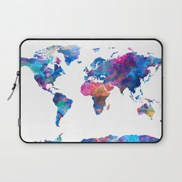 world map watercolor 2 Laptop Sleeve