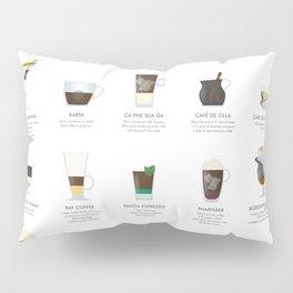 Coffee Chart - Around The World Pillow Sham