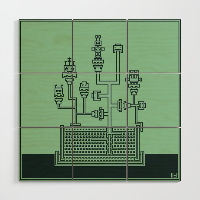 Planticular Robotic Wood Wall Art