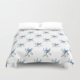 Stylised Flower Pattern Duvet Cover