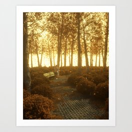 That time last Autumn Art Print