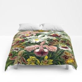 Vintage 1865 Botanical Orchids Comforters