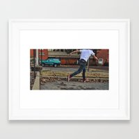 skateboard Framed Art Prints featuring Skateboard by Sam Chapman