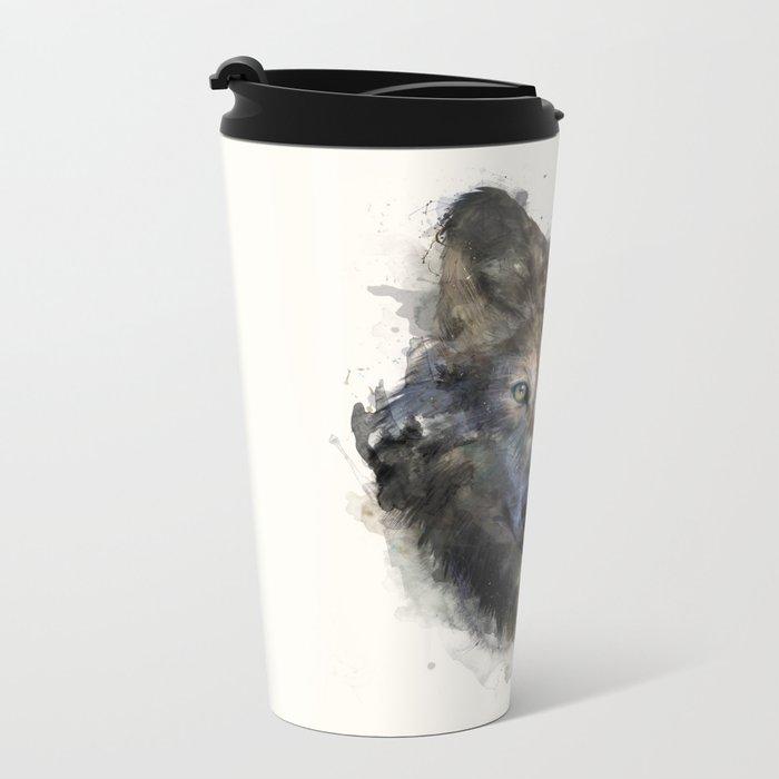 Wolf // Secure Metal Travel Mug