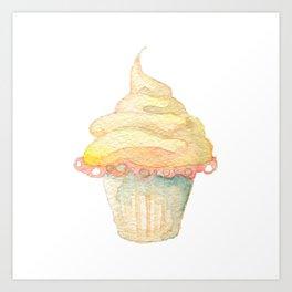 Ice Cream Yellow Art Print