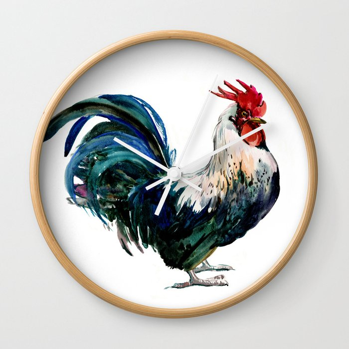 Rooster Decor Beautiful French Country Style Design Artwork Kitchen Wall Clock By Sureart