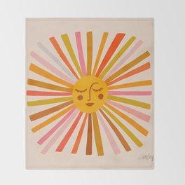 Sunshine – Retro Ochre Palette Throw Blanket