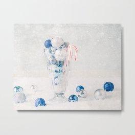 Christmas Ornaments in Soda Glass Metal Print