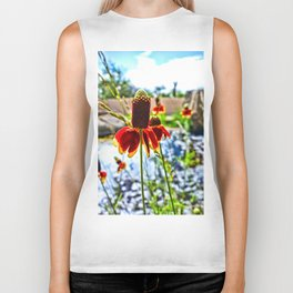 Cone Flower and Pond Biker Tank