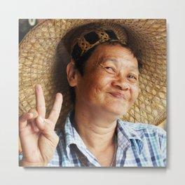 Peace Woman Metal Print