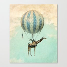 Sticking your neck out, giraffe Canvas Print