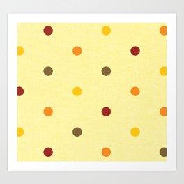 Polka Dot Love Art Print