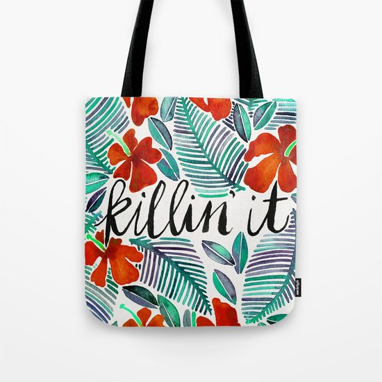 Killin' It – Tropical Red & Green Tote Bag