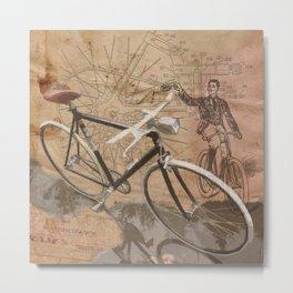 vintage bicycle hipster Metal Print