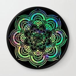 Neon Psychedelic Mandala Wall Clock