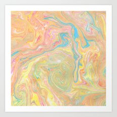 Summer Sherbet Marble Art Print