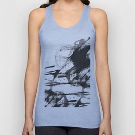 Black and white Abstract Unisex Tank Top