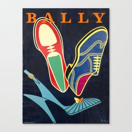 Advertisement bally  bally vintage poster Canvas Print