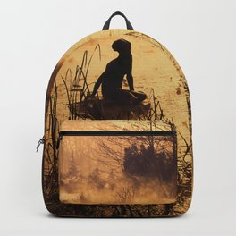Silhouette on the lake Backpack