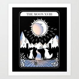 The Moon Tarot Card Art Print