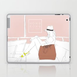 Star Ferry, Hong Kong Travel Poster Laptop & iPad Skin