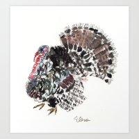 turkey Art Prints featuring Turkey by Elena Sandovici