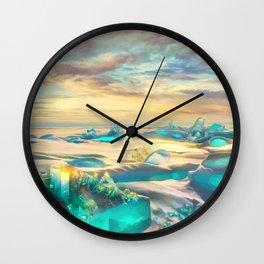 Crystal snow desert Wall Clock