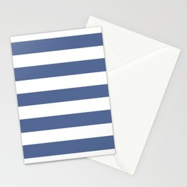 UCLA blue - solid color - white stripes pattern Stationery Cards