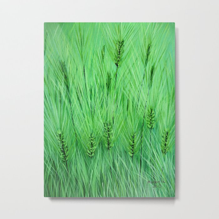 Green wheat Metal Print