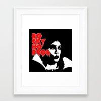 rocky horror Framed Art Prints featuring Rocky Horror Fan Art by Maira Artwork