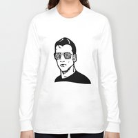 alex turner Long Sleeve T-shirts featuring Alex Band Guy Minimalist Print (Alex Turner) by TallulahLost