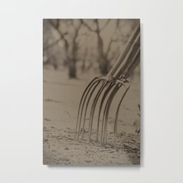 Pitched Forks Metal Print