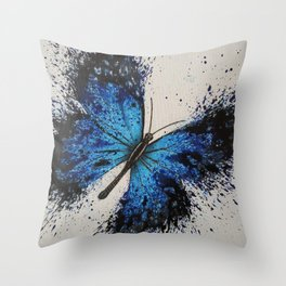 Sky Butterfly Throw Pillow
