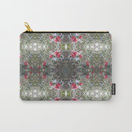 Very Berry Holly Christmas Multi Fractal from Photo 805 Carry-All Pouch