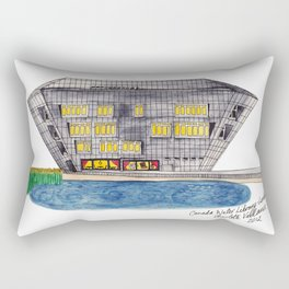 Canada Water Library in London by Charlotte Vallance Rectangular Pillow