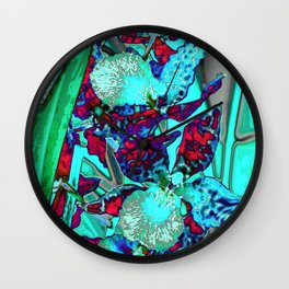 Orchid,Orchidee Wall Clock