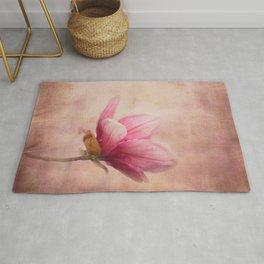 Pink Magnolia I - Flower Art Rug