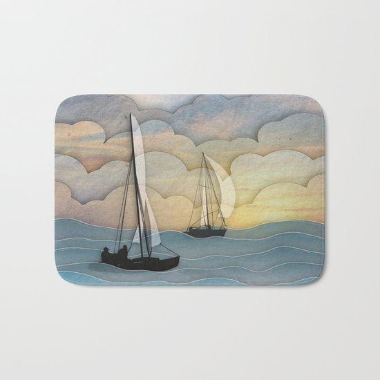 Sailing I Bath Mat