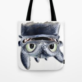 Toothless (Upside Down) Tote Bag