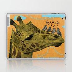 Giraffe & Singing Birds Print Laptop & iPad Skin