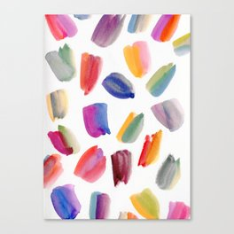 Watercolor Brush Strokes Canvas Print