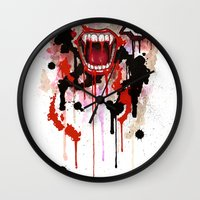 vampire Wall Clocks featuring Vampire by Daniel Savoie