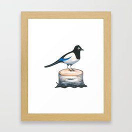 Curious Jay Framed Art Print