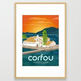 Corfu, Vlacherna Monastery (GR) Framed Art Print