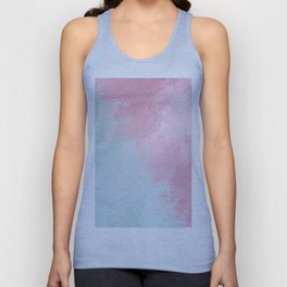 Modern abstract pink teal watercolor pattern Unisex Tank Top